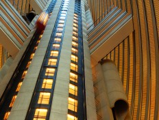 Elevator core at the Atlanta Marriott Marquis hotel.